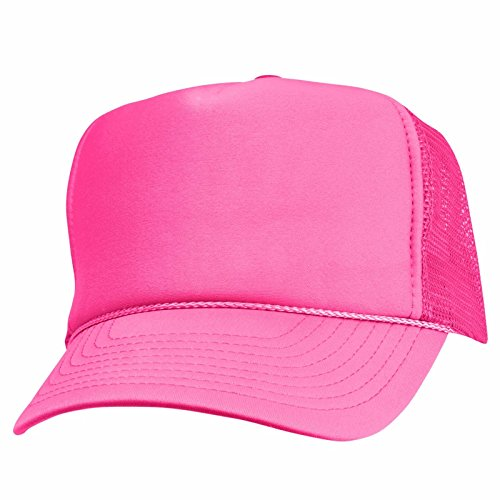 [2 Packs NEON Baseball Caps Blank Trucker Hats Summer Mesh Bachelorette Capl (2 FOR Price of 1) (NEON -] (Out Of Your League Costumes)