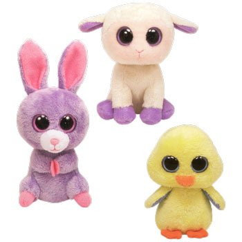 Ty Basket Beanie Babies - Easter 2012 Complete Set of 3