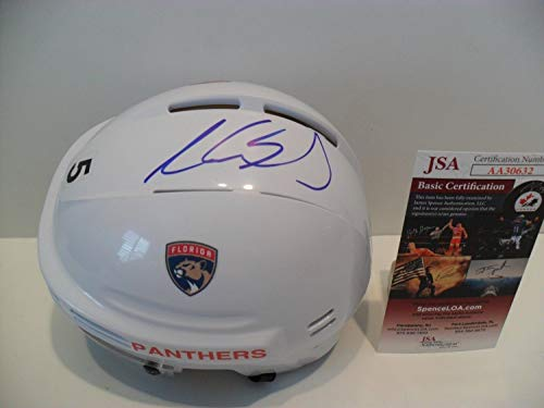 - Aaron Ekblad Autographed Signed Florida Panthers Helmet Memorabilia JSA COA - On Sweet Spot