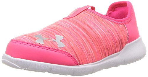 Under Armour Girls' Infant Superflex, Penta Pink/Brilliance/Metallic Silver, 8K M US Toddler