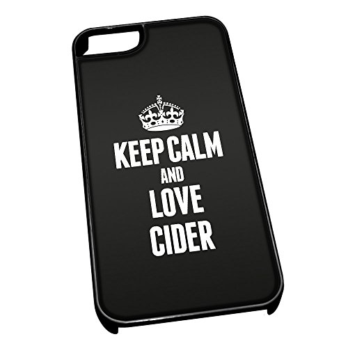 Nero cover per iPhone 5/5S 0965 nero Keep Calm and Love Cider