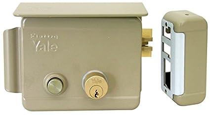 Cerradura eléctrica de sobreponer para puertas Art. 68880 con pestillo azionabile retraído externo mediante llave