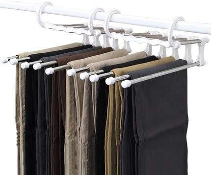 Ceinture Nrpfell Cintres /à Pantalons 3 Cintres en Tissu en Forme de S Antid/éRapants Cintres Gain de Place pour Pantalons /éCharpe Legging Cravate