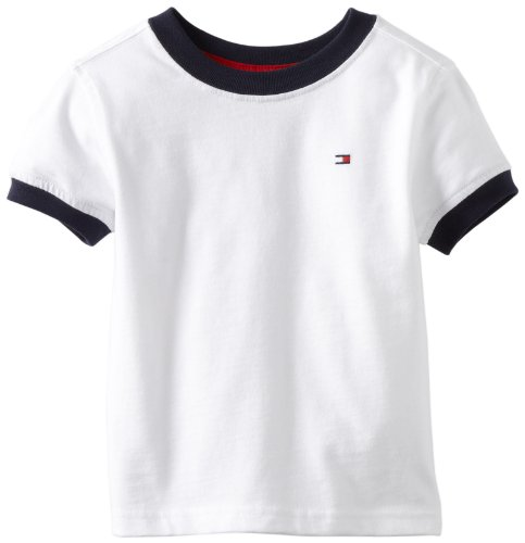 Tommy Hilfiger Little Boys' Toddler Core Crew Neck Ken Tee, Classic White, 2T