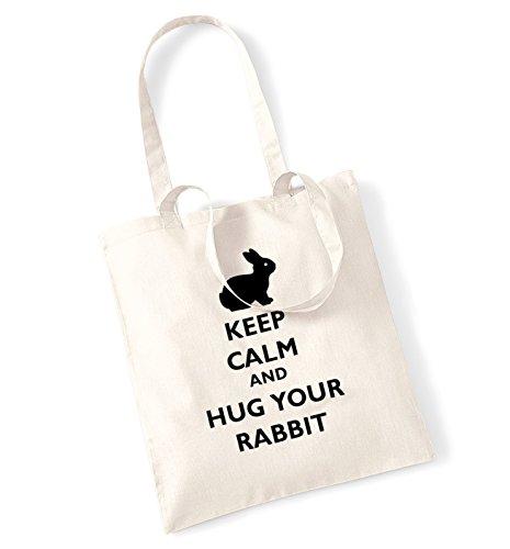 bag Keep Keep rabbit and tote calm Natural hug calm your fqC8Bn