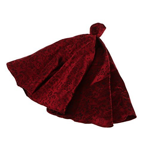 [No brand goods] fabric wine red 1/6 Barbie doll for elegant party dress dollhouse children gift by No brand goods