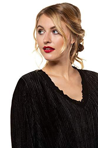 Ulla Grandes Femme Dos Noir Lache Femme Shirt Shirt Tailles t Manches avec Blouse Haut Popken 719474 Chemisiers Chic T Longues rSFwgArq