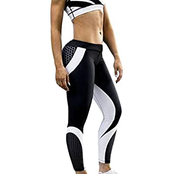 SMTSMT Women Pant, Womens 3D Print Yoga Skinny Workout Gym Leggings Sports Training Cropped Pants (S, Black)