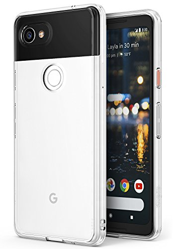 Fusion Cell Phone (Ringke [FUSION] Google Pixel 2 XL Phone Case Crystal Clear Minimalist Transparent PC Back TPU Bumper [Drop Protection] Scratch Resistant Natural Shape Protective Cover for Pixel 2 XL - Clear)