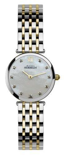 Michel Herbelin 1045-BT59 Ladies Extra Flat Epsilon Two Tone Bracelet Watch