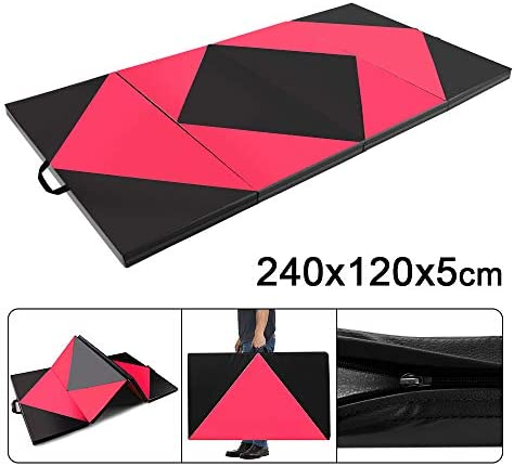 Thick Foam Nonslip Soft PU Leather for Yoga//Tumbling//Camping//Pilates//Martial Arts Training//Floor Workout 6FT//8FT Home Gym Mats with Carry Strap 5cm 2/'/' Dripex Folding Gymnastics Exercise Mat