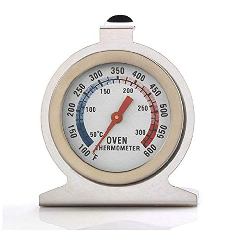 FORESTIME Oven Thermometer,ProAccurate Meat/Poultry Oven Thermometer-Extra Large Glow-in-The-Dark Dial (White, 647 cm)