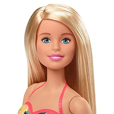 Barbie Doll, 11.5-Inch Blonde, and Pool Playset with Slide and Accessories, Gift for 3 to 7 Year Olds: Toys & Games