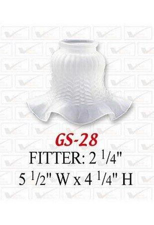 VOLUME LIGHTING GS-28 4 1/4'' Bell-Shaped White Frost Tulip Glass