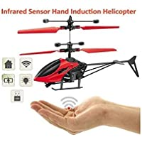 HRK Infrared Induction Helicopter Sensor Aircraft (Without Remote) USB Charger Flying Heli Plane with Flashing Light Toys for Boys and Girls