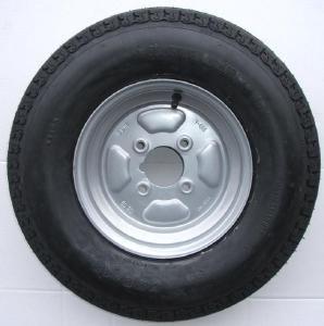 500 x 10 in Rueda y neumático de remolque con 6 capas y 4 pulgadas PCD Pt no LMX265: Amazon.es: Coche y moto