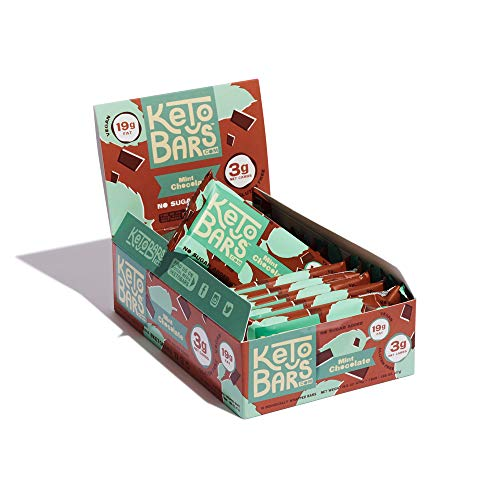 Keto Bars! The Original High Fat, Low Carb, Ketogenic Bar. Gluten Free, Vegan, Homemade with simple ingredients. [Mint Chocolate, 10 Pack]