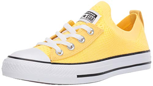 Converse Women's Chuck Taylor All Star Shoreline Knit Slip On Sneaker Butter Yellow/White/Black 8 M US