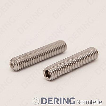 Ringschneide DIN 916 Edelstahl A2 | Madenschrauben DERING Gewindestifte M6 X 6 mit Innensechskant u 50 St/ück