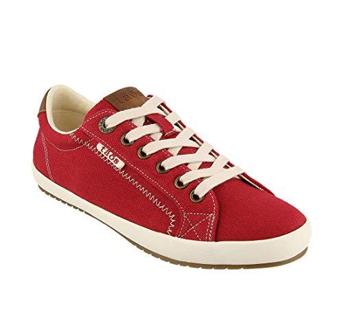 Taos Footwear Women's Star Burst Red/Tan Sneaker 10.5 M US ()