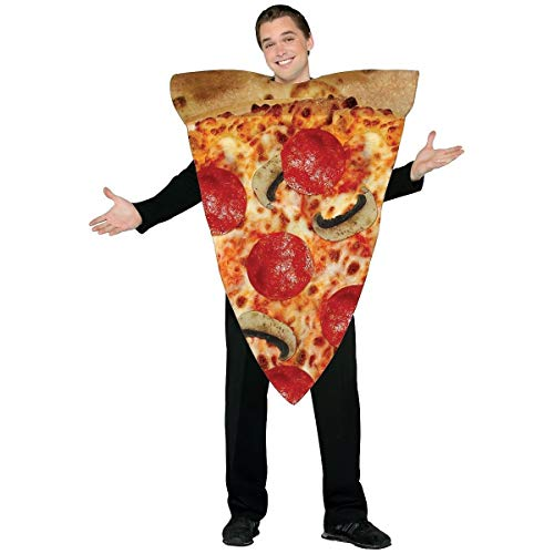 Rasta Imposta Pizza Slice Costume - One Size - Chest Size 42-48 -