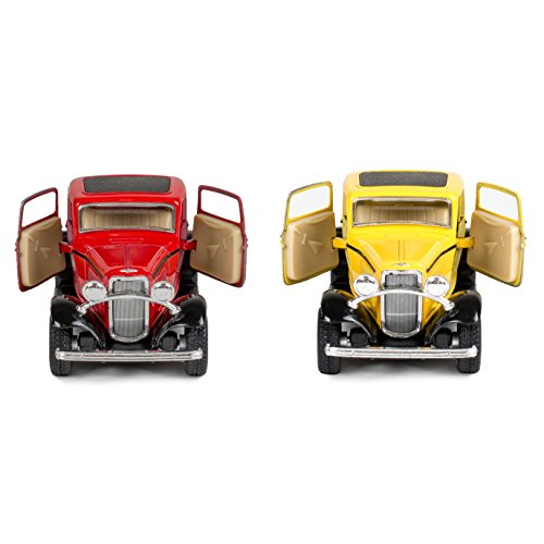 Master Toys and Novelties 2 Pc Set - 1932 Ford 3 Window Coupe 5 Inch Die Cast Toy Cars