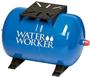 WaterWorker HT-14HB Horizontal Pressure Well Tank, 14-Gallon Capacity, Blue