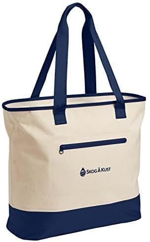 Skog Å Kust ToteSak Waterproof Tote Beach Bag with Airtight Zipper