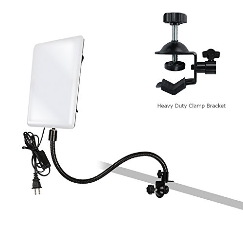 LimoStudio LED Light Panel with Goose Neck Extension Adapter, Mini Table Top Camera Light Stand, Seamless Studio Matte Cyclorama Module Background Tray, Photo Video Lighting Studio Kit, AGG2240 by LimoStudio (Image #2)