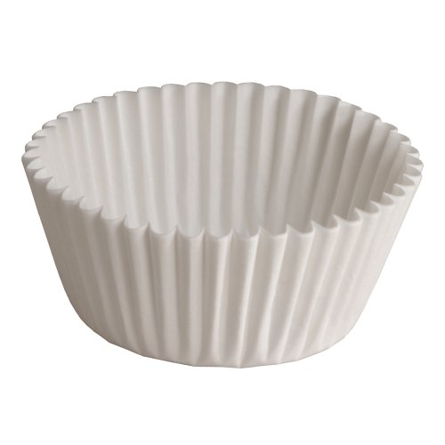 Hoffmaster BL112-3-1/2SP Fluted Bake Cup, 1-Ounce Capacity, 3-1/2'' Diameter x 1'' Height, White (4 Packs of 500) by Hoffmaster