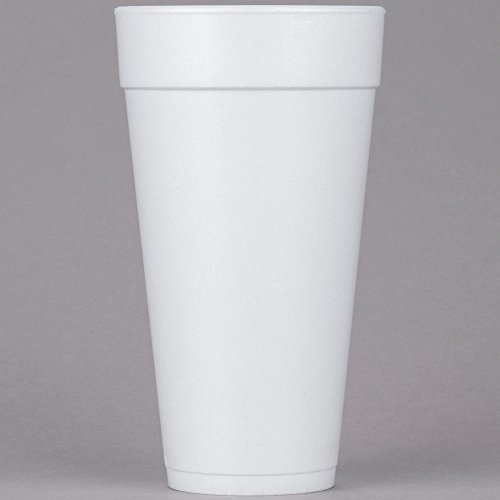 Dart 24J24 24 oz. Customizable Tall White Foam Cup - 500/Case