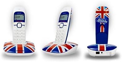 Logicom SOLY 150 - Teléfono inalámbrico con diseño de bandera de Reino Unido [Importado de Francia]: Amazon.es: Electrónica