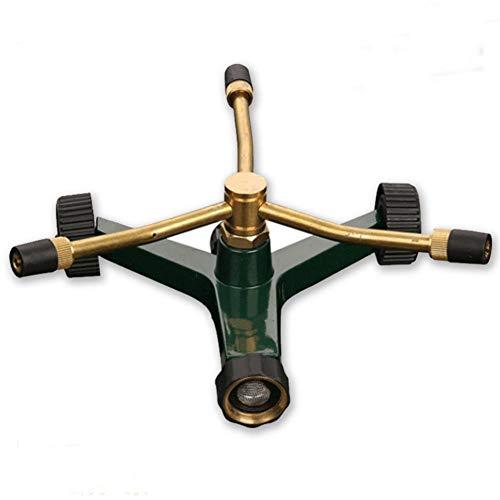 3 Arm Revolving Sprinkler - PROKTH Revolving Sprinkler Garden Irrigation Tool Brass 3-arm 360-degree Rotating Adjustable Lawn Nozzle Sprinkler for Lawn Garden