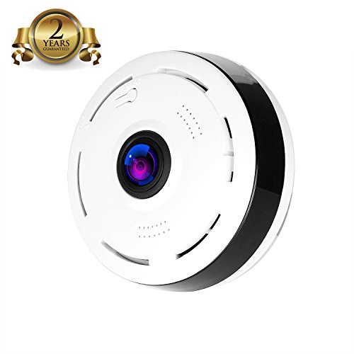 Camera 360 App Surveillance Camera 2.0 Megapixel 1080P Wireleurity WiFi Indoor Super Wide 360 Degree Super Wide Angle Support IR Night Motion Detection Keep Home Safe