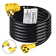 Vetomile RV Extension Cord with Handle, 125V/250V for Trailer Motorhome Camper