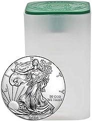 2020 - Mintroll of 20-1 oz American Silver Eagle .999 Fine Silver Uncirculated