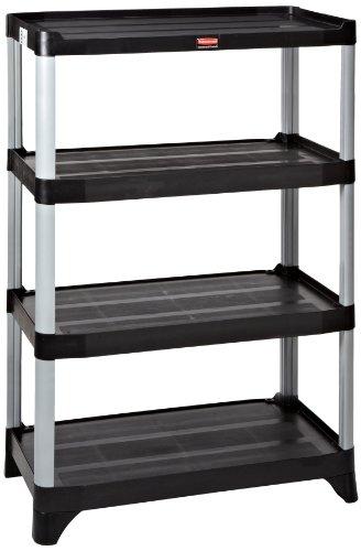 l 4-Shelf Xtra Storage Shelving Unit, 800-Pound Capacity, Black (Xtra Storage)