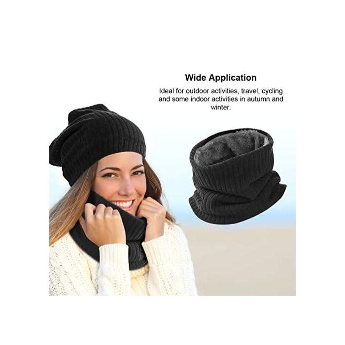 Thickkened Knitting- el rendimiento ultra suave, cómodo y exquisito te sorprenderá. Y no producirá pilling ni se soltará después de su uso. Keep You Warm- El fino forro de felpa es útil para mantener el calor en el cuello, la cara, las orejas y la cabeza en días fríos. fibras acrílicas y felpa