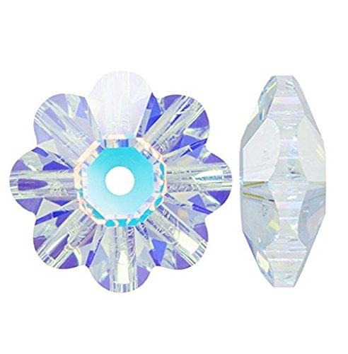 24pcs x Authentic 6mm Swarovski #3700 Margarita Crystal Beads (Crystal AB, Unfoil) #SWA-M602