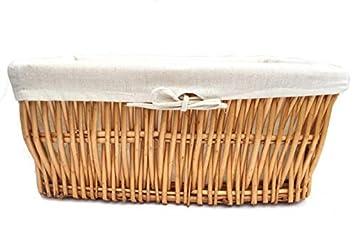 Oak Small 34x22x16cm topfurnishing Voll Weidenkorb Starkes Breiter Gro/ß Deep Flechtweide Aufbewahrungskorb Weihnachten Geschenkkorb Korb Geschenk
