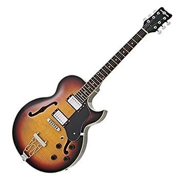 Guitarra San Diego Semiacústica de Gear4music - Vintage Sunburst: Amazon.es: Instrumentos musicales