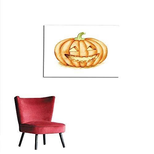 homehot Photo Wall Paper Smiling Halloween Pumpkin Hand