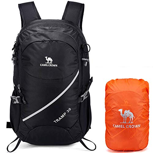 CAMELSPORTS Hiking Backpack 30L Lightweight Water-Resistant Travel Backpacks Casual Trekking Daypack with Rain Cover for Outdoor Camping