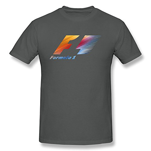 Popular Printing Men's Formula 1 Logo T-shirt X-Large DeepHeather