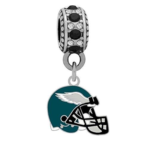 Philadelphia Eagles Charm - Final Touch Gifts Philadelphia Eagles Helmet Charm Fits European Style Large Hole Bead Bracelets