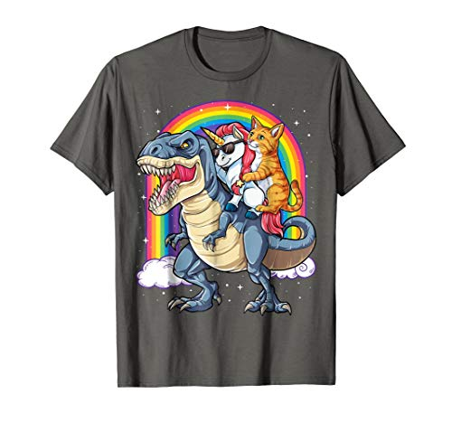 Cat Unicorn Dinosaur T rex T shirt Kitten lover Space Galaxy for $<!--$17.99-->