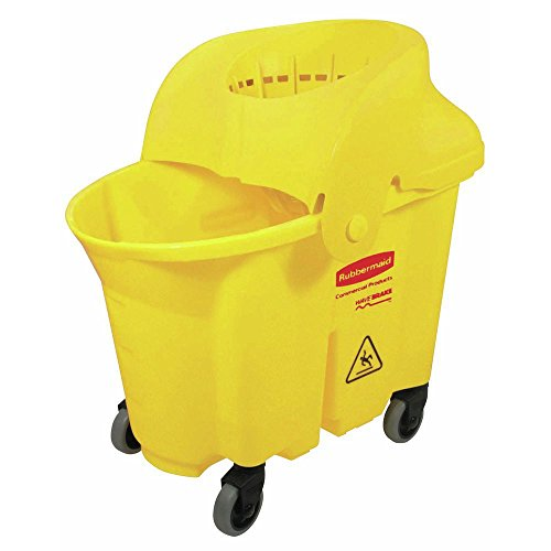 (Rubbermaid Commercial Products RCP 7590-88 YEL 35 Quart Wavebrake Institutional Combo - Yellow)