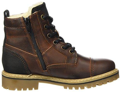 ... BULLBOXER Jungen Aha505e6l Chelsea Boots Braun (Dark Cognac)