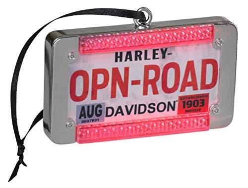 Harley-Davidson Winter LED License Plate Ornament w/LED Brake Lights HDX-99135