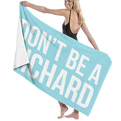 MKJIH Don't Be A Richard Absorbent Fade Resistant Oversized Bath Towels 51x32 Inch- 100% Polyester Cotton-Ideal for Daily -